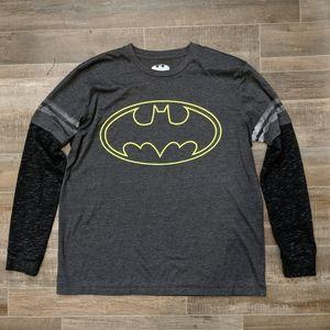 Batman Long Sleeve Shirt Top Size Large